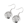 Round Sterling Silver Celtic Knot Earrings