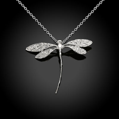 Long Delicate Dragonfly Pendant