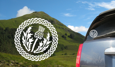 Scottish Thistle Decal