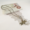 Vintage Dragonfly Pendant with Opalite Swarovski Pearls Crystals