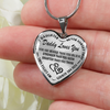 Daddy Loves You Always My Little Girl Heart Stainless Steel Necklace
