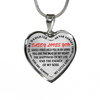 Daughter Daddy Loves You In My Arms Red Stainless Steel Necklace