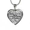 Daughter Grandma Best Thing Stainless Steel Pendant Necklace