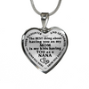 Daughter Nana Best Thing Stainless Steel Pendant Necklace