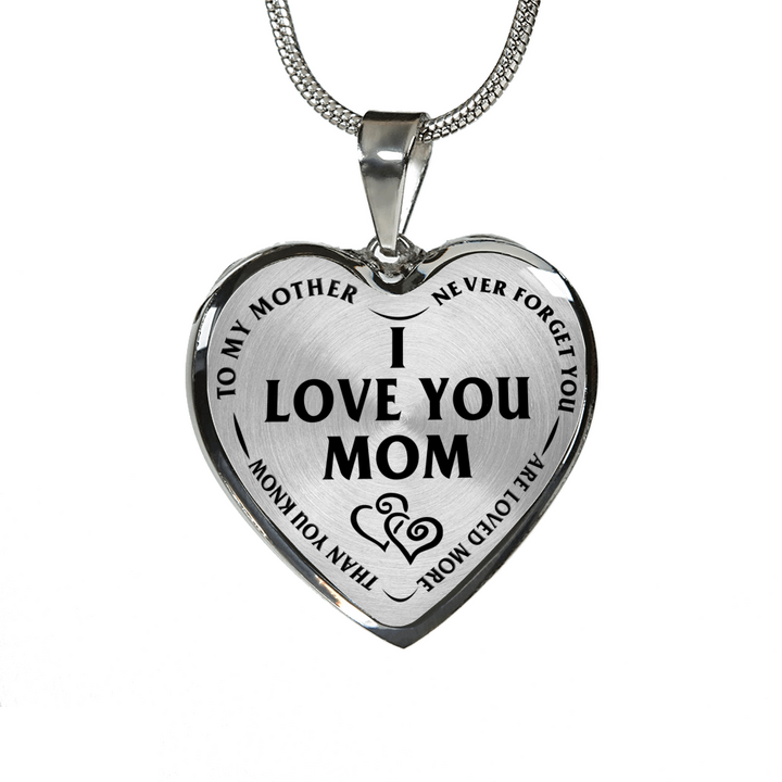 Mother daughter son i love you mom stainless steel pendant necklace mother daughter son i love you mom stainless steel pendant necklace aloadofball Image collections