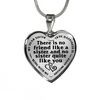 Dear Sister No Friend Like You Stainless Steel Pendant Necklace