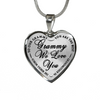 Grammy We Love You Best Grandmother Stainless Steel Pendant Necklace