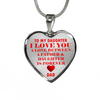 To My Daughter Love is Forever Dad Stainless Steel Necklace