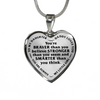 Daughter Daddy Loves You Braver Than You Believe Stainless Steel Necklace
