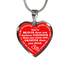 Daughter Daddy Loves You Always My Little Girl Red Background Stainless Steel Necklace