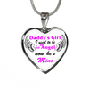 Bereavement Daddy's Girl I Used To Be His Angel Stainless Steel Purple Pendant Necklace
