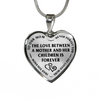 Mother Children Love Between Is Forever Stainless Steel Pendant Necklace