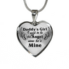 Bereavement Daddy's Girl I Used To Be His Angel Memorial Black Stainless Steel Necklace