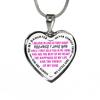 Daughter Dad Love At First Sight Stainless Steel Purple Pendant Necklace
