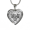 Bereavement Father You Walk Beside Me Every Day Black Memorial Necklace
