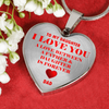 To My Daughter - Love is Forever Dad Necklace