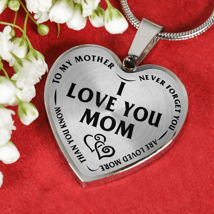 Mother daughter son i love you mom stainless steel pendant necklace mother daughter son i love you mom stainless steel pendant necklace aloadofball Images