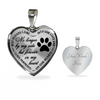 Bereavement Pet Memorial Forever In My Heart Stainless Steel Pendant Necklace