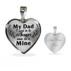 Bereavement My Dad Used To Be My Angel Stainless Steel Black Heart Pendant Necklace