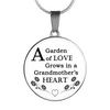 Garden of Love in Grandmother's Heart Necklace