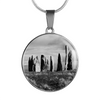 Standing Stones Stainless Steel Pendant Necklace