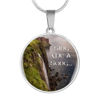 Sing Me A Song Stainless Steel Necklace