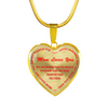 To My Daughter - Mom Loves You 18K Gold Pendant Necklace