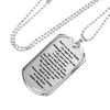 Don't Cry For Me Daddy Stainless Steel Dog Tag Memorial Pendant