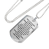 Don't Cry For Me Dad Stainless Steel Dog Tag Memorial Pendant