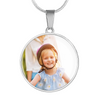 Personalized Photo Upload Round Stainless Steel Necklace