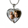 Custom Family Photo Stainless Steel Heart Personalized Necklace