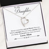 Daughter You Are Brave Love Mom Gold or Silver Heart Necklace