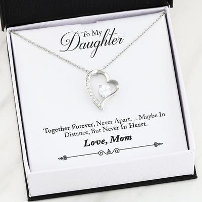 Never Apart Mother Daughter Gold or Silver Heart Necklace