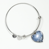 Bereavement Until I Hold You in Heaven Silver Heart Bracelet