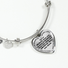 Daughter Daddy Loves You More Than You Know Stainless Steel Bracelet