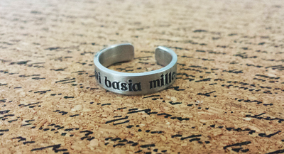 Da Mi Basia Mille - Give Me a Thousand Kisses - Hand Stamped Ring