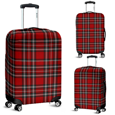 Vintage Red and Black Tartan Suitcase Cover Protector