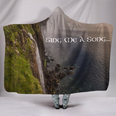 Sing Me A Song Hooded Blanket Throw II