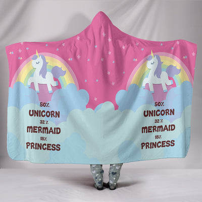 Unicorn Mermaid Princess UltraSoft Hooded Blanket II