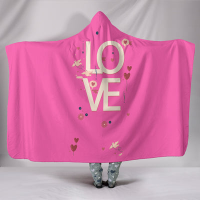 LOVE Hooded Adult Blanket ll