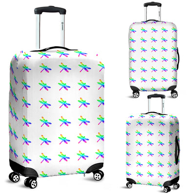 Rainbow Dragonflies Luggage Suitcase Cover