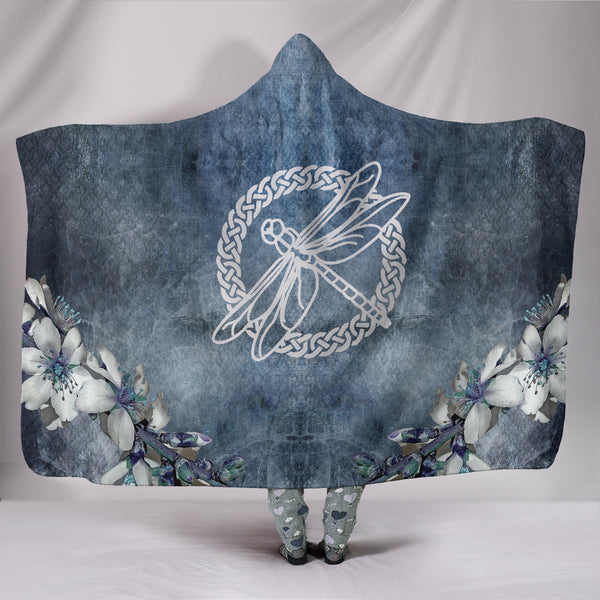 Celtic Knot Dragonfly Hooded Blanket Throw II