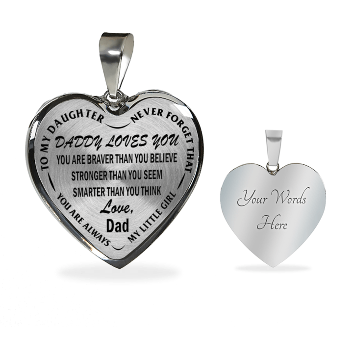 Daddy loves you always my little girl stainless steel pendant daddy loves you always my little girl stainless steel pendant necklace mozeypictures Image collections