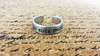 Je Suis Prest - I Am Ready - Scottish Gaelic Hand Stamped Ring