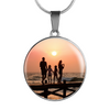 Personalized Picture Stainless Steel Circle Necklace