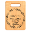 Where the Secret Ingredient is Always Love Personalized Cutting Board