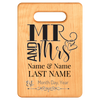 Mr & Mrs Personalized Cutting Board - Maple Laser Engraved