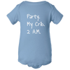 Party My Crib Baby Body Suit Onesie