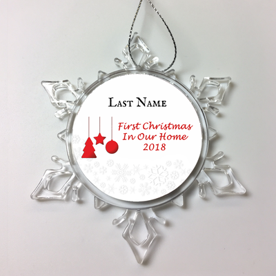 First Christmas in Our Home Personalized Ornament