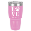 Personalized I LOVE My Pet Polar Camel 30oz Ringneck Tumbler